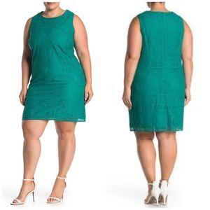 NWT Eliza J Sleeveless Lace Shift Dress Sz. 18W